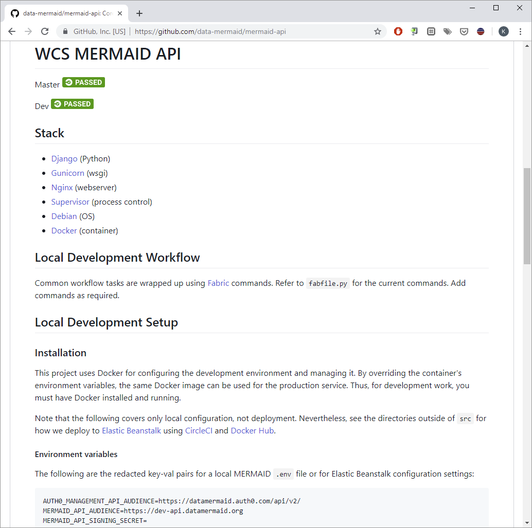 MERMAID API