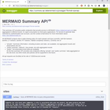 MERMAID Summary API swagger
